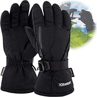 Rugged Waterproof Winter Ski Gloves | Touchscreen Compatible | Cordura Shell, Thinsulate Insulation | Ice Fishing, Skiing, Sledding, Snowboard | for Women or Men