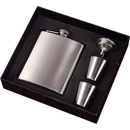 ラン厶ユキ スキットル 携帯 フラゴン 滑り止め ヒップフラスコ 高級感 おしゃれ ウイスキー 清酒 ボトル テンレス鋼