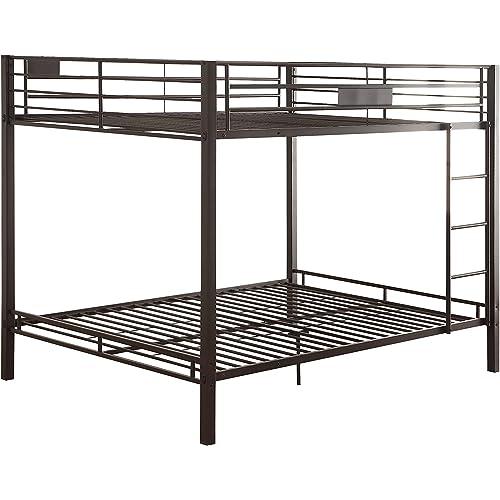 Amazon Com Acme Kaleb Queen Queen Bunk Bed 38015 Sandy Black Furniture Decor