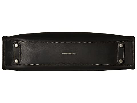 COACH Brief cuero negro en Glovetan Rouge rrwqP8S