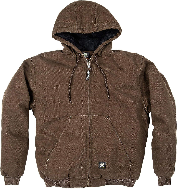 Berne Men's Highland Washed Hooded Jacket