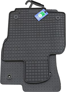 PETEX Rubber mats suitable for VW Caddy V from 11/2020 front black set of 4