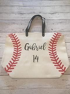 baseball purse - baseball bag - sports tote bag - softball purse - softball bag - gift for baseball player - baseball mom - half softball half baseball bag - personalized baseball bag