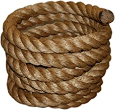 T.W Evans Cordage 30-097-50 1-1/2-Inch by 50-Feet Pure Number-1 Manila Rope (4 Pack (50 Feet))