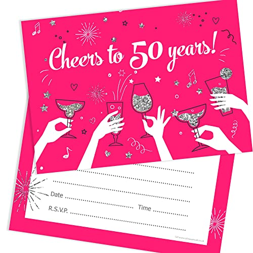 Olivia Samuel 50th Birthday Party Invitations