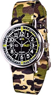 EasyRead Time Teacher Analog Learn The Time Boys Watch Green Camo #ERW-BKG-PT-GC