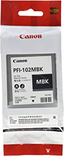 Canon PFI-102MBK ImagePrograf iPF500 510 600 655 750 755 760 765 130ML Ink Tank (Matte Black) in Retail Packaging