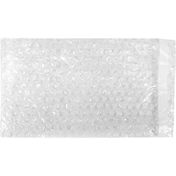 Flush Cut Bubble Pouch Bags 650 Pack Clear Shipping Packing Moving and Storage 6 x 6 Inch Aviditi for Cushioning