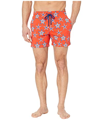 Vilebrequin Moorise Starfish Dance Superflex Swim Trunks (Nefle) Men