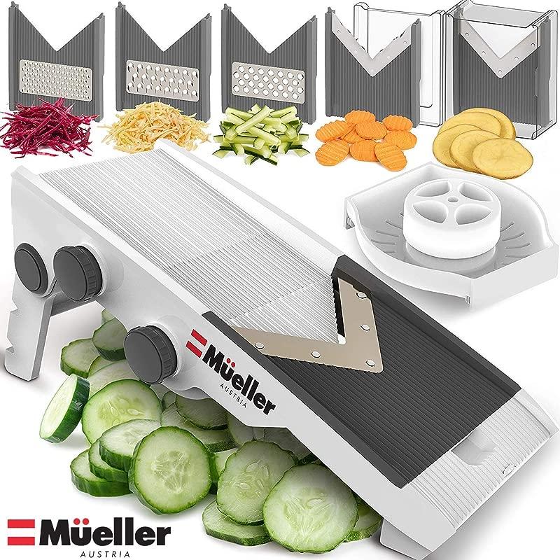 Mueller Austria V Pro Multi Blade Adjustable Mandoline Cheese Vegetable Slicer With Precise Maximum Adjustability