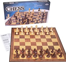 Silly Goose Chess Game, Cardboard Folding Chess Set with Plastic Chess Pieces, Board Games