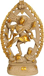 Exoticindia The Dancing Shiva Statues Cement Gold