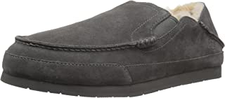 Amazon Brand - 206 Collective Men's Bower Collapsible Back Shearling Moccasin Slipper