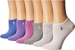 LAUREN Ralph Lauren - 6-Pack Flat Knit Ultra Low Cut Socks