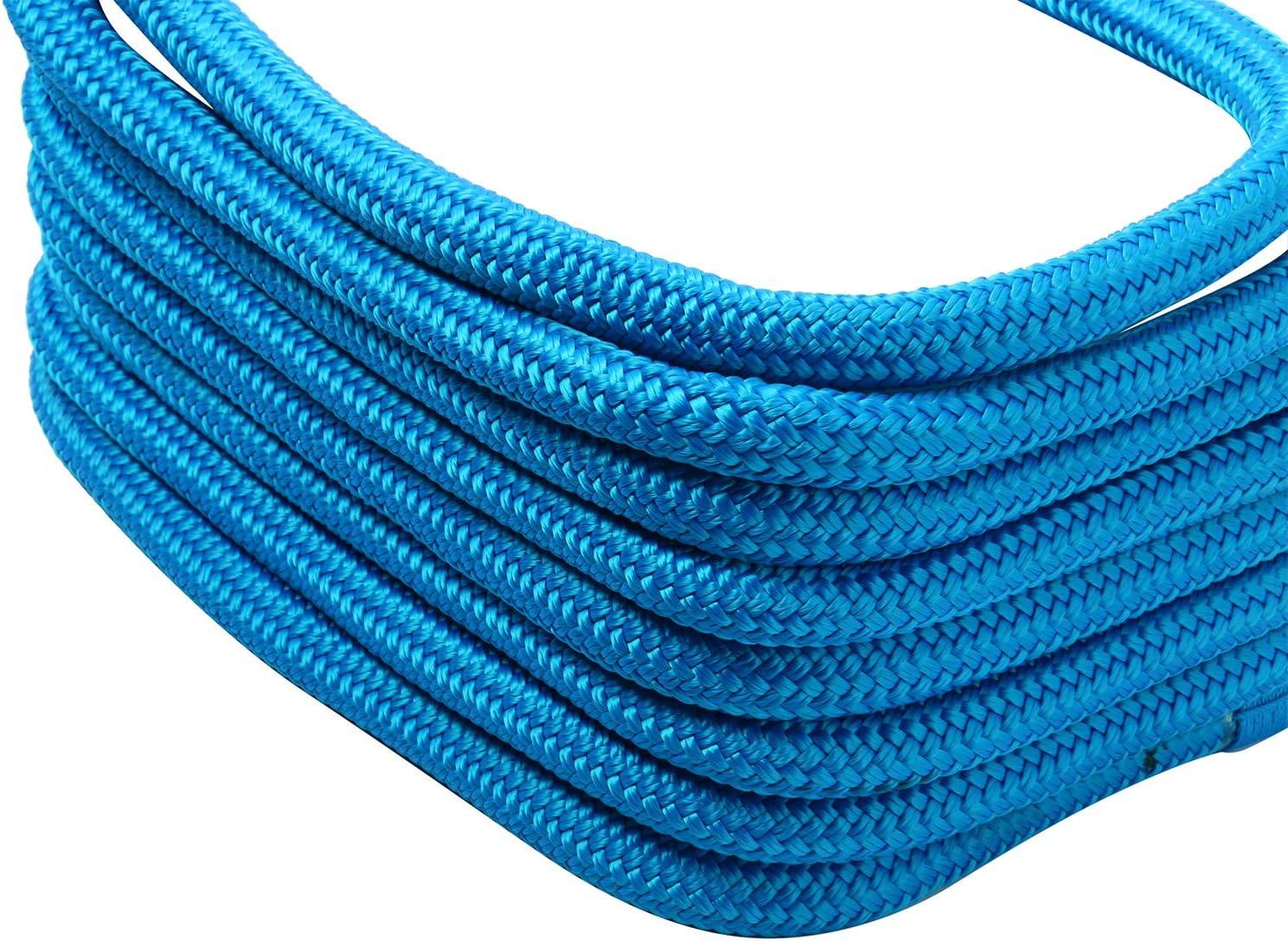 "NovelBee 2 Pack of 5//8/""x 30/' Double Braid Nylon Dockline,Mooring Rope Dock Line,Working Load Limit 1540 lbs,Breaking Strength 7,700 lbs"
