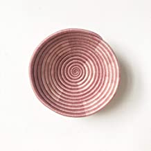 Small African Basket: Mutura II/Rwanda Basket/Woven Bowl/Sisal & Sweetgrass Basket/Dusk, Blush Pink