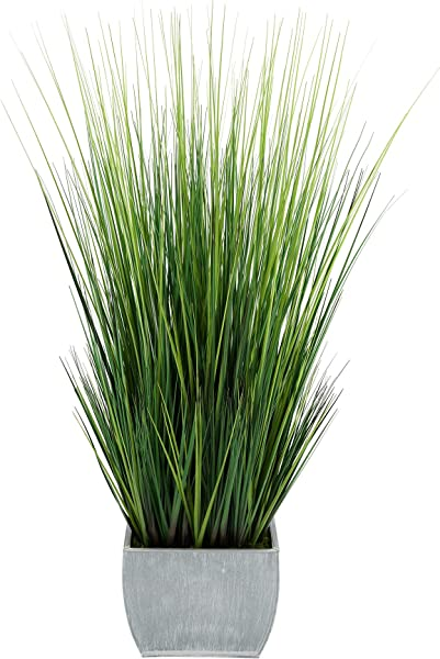 House Of Silk Flowers Artificial 44 Inch Grass In Large Rectangle Zinc Farmhouse
