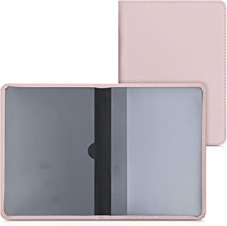 kwmobile Porte permis de Conduire Carte Grise avec Compartiments Cartes Passeport - Étui Portefeuille de Protection en Sim...