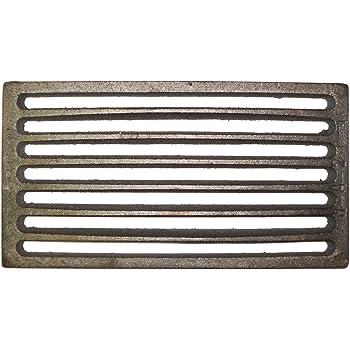 Griglia in ghisa per camino o stufa pellet 16 x 16 cm caduta cenere aereazione