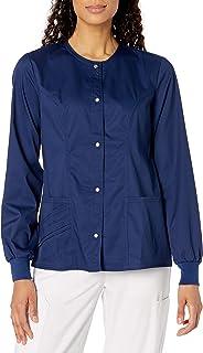 Cherokee Women's Luxe Snap-Front Warm-Up Jacket