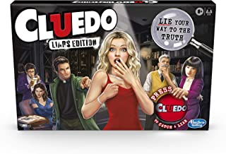 Cluedo Liars Edition Board Game; Murder Mystery Game for Kids 8 and Up; Expose Dishonest Detectives With the Liar Button