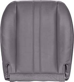 The Seat Shop Work Van Driver or Passenger Bottom Replacement Seat Cover - Medium Dark Pewter II (Gray) Vinyl (Compatible with 2003-2014 Chevrolet Express and GMC Savana)