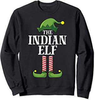 Indian Elf Matching Family Group Christmas Party Pajama Sweatshirt