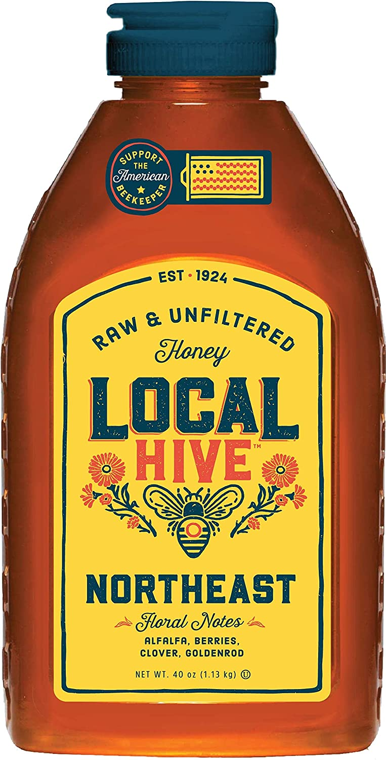Local Hive, Raw Honey, Pure and Unfiltered, Local Northeast Beekeepers, 40oz