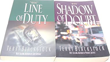 Author Terri Blackstock Two Book Bundle of The Newpointe 911 Series Includes: Line of Duty and Shadow of Doubt