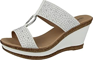 Amazon.co.uk: White Sandals Women's Shoes: Shoes & Bags
