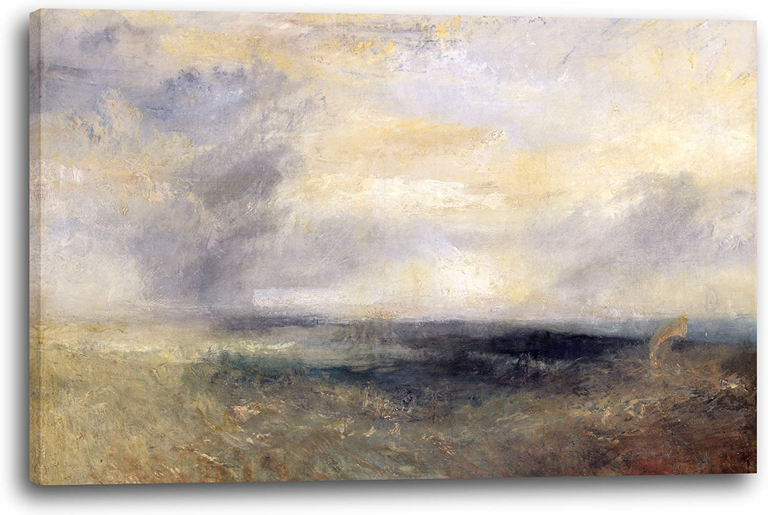 Printed Paintings Leinwand (120x80cm) (120x80cm) (120x80cm)  William Turner - Margate, from The Sea B074P71M1D 27e89f