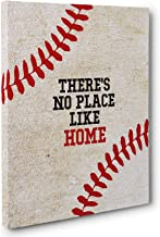 Baseball There Is No Place Like Home Canvas Wall Art
