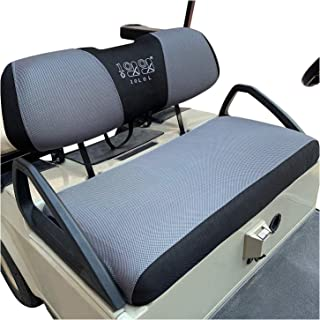 10L0L Golf Cart Bench Seat Cover Set, Washable Polyester Mesh Cloth Fits Club Car DS & Precedent,Yamaha Electric Golf Carts
