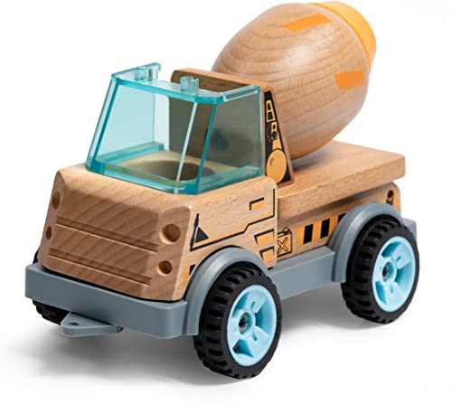 high quality ROBUD Toy Truck Vehicles for Kids Push new arrival Cars Cement Mixer Wooden Toy Cars Engineering Vehicle Construction Play Toy Truck for outlet online sale Toddlers outlet online sale