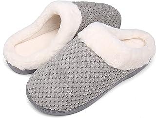 Mishansha Zapatillas Hombre Mujer Invierno Memory Foam Casa Zapatos Antideslizante Pantuflas
