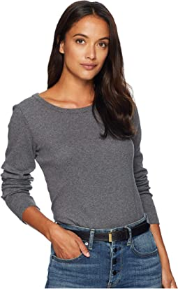 Long Sleeve Cotton Rib Crew