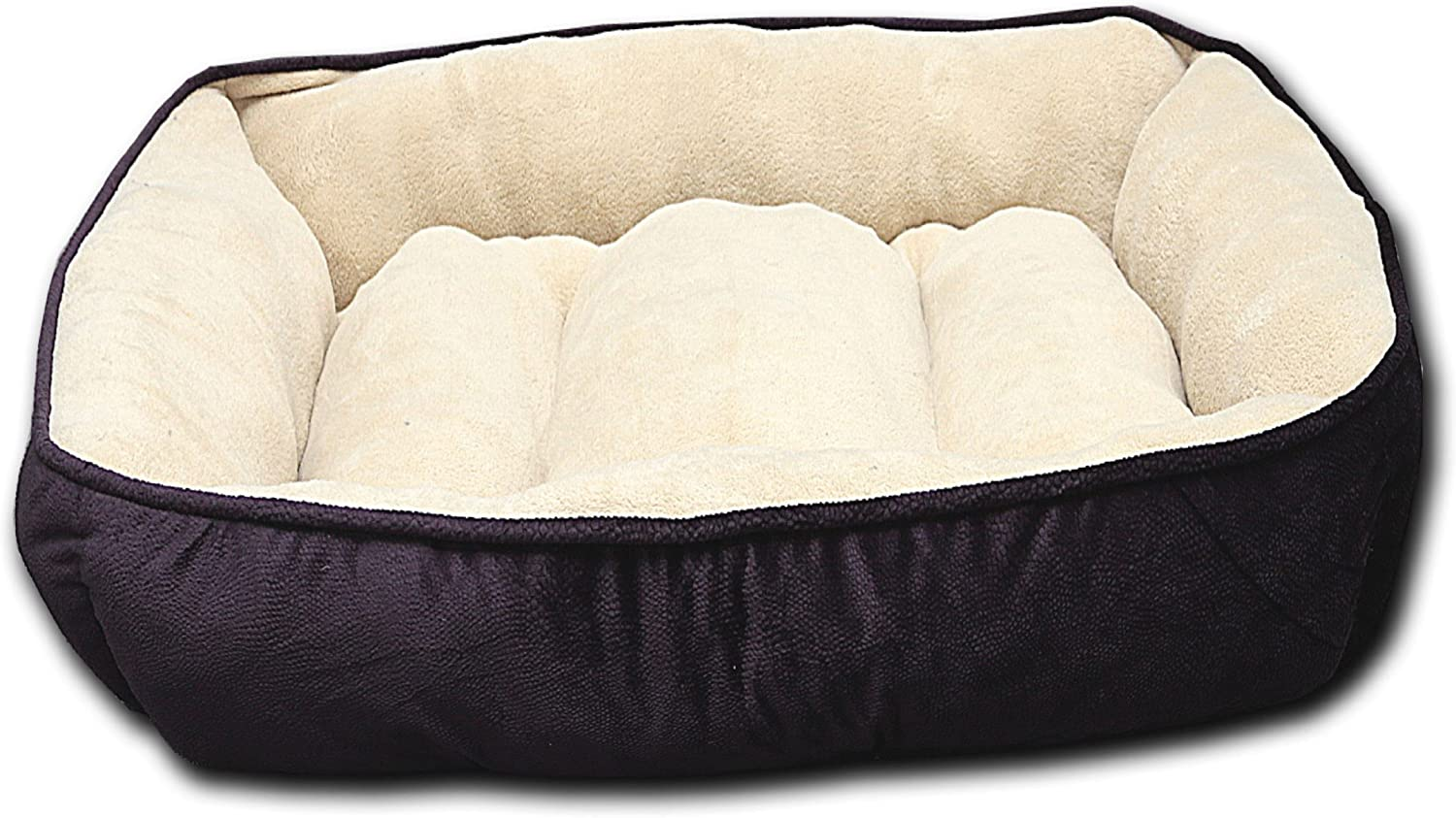HappyCare Textiles HCT REC002 Luxury Embossed Rectangle Micro Mink Dog and Pet Bed, Large, Burn Out Purple