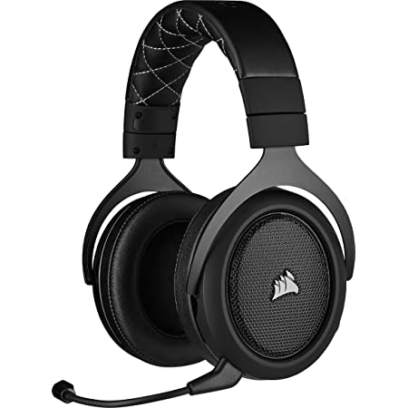 Corsair HS70 PRO WIRELESS SE, Auriculares Para Juegos (7.1 Sonido Envolvente, Inalámbrico De 2.4 GHz De Baja Latencia, Unidireccional Micrófono, Compatible Con PC, PS4), Negro