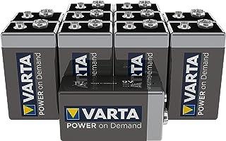 Varta Power On Demand 9V Blok, 10 Stuks