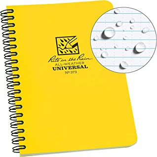 RITE IN THE RAIN Universal Notebook Side Spiral Bound White/Yellow (Size 4 5/8X 7 in)