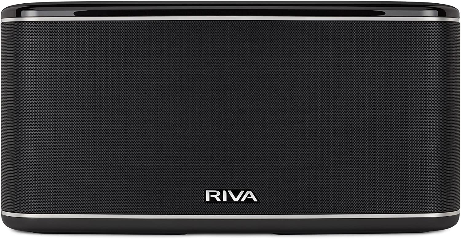 RIVA FESTIVAL Smart Speaker Mid-Size Wireless for Multi-Room music streaming and voice control works with Google Assistant (Black)