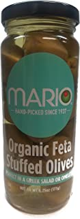 Mario Camacho Foods Organic Stuffed Olives, Feta Cheese, 6.25 Fluid Ounce