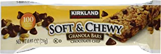 Kirkland Signature Soft and Chewy Granola Bars, Chocolate Chip, 51 Ounce / 60 bars