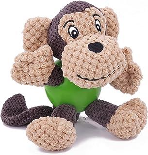 Mumoo Bear Dog Toy Plush Interactive Squeaker Puppy Chew Toys Reduces Boredom