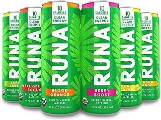 Organic Clean Energy Drink by RUNA, Sampler Pack | Refreshing Tea Taste | 10 Calories | Powerful Natural Ca...