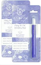 Dr. Brite Stay Brite Teeth Whitening Pen with Mint and Activated Coconut Charcoal (0.07 Fl Oz) (Pack of 2)