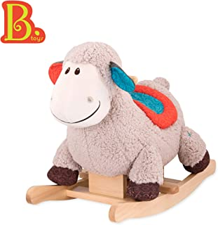 B. toys by Battat – Loopsy Wooden Rocking Sheep – Rodeo Rocker – Bpa Free Plush Ride On Sheep Rocking Horse for Toddlers & Babies 18M+, Multicolor