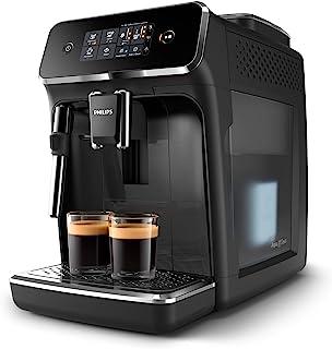 Philips Espressomachine 2200 serie - 2Koffievarianten - Touchdisplay - Klassieke melkopschuimer - Perfecte temperatuur en...