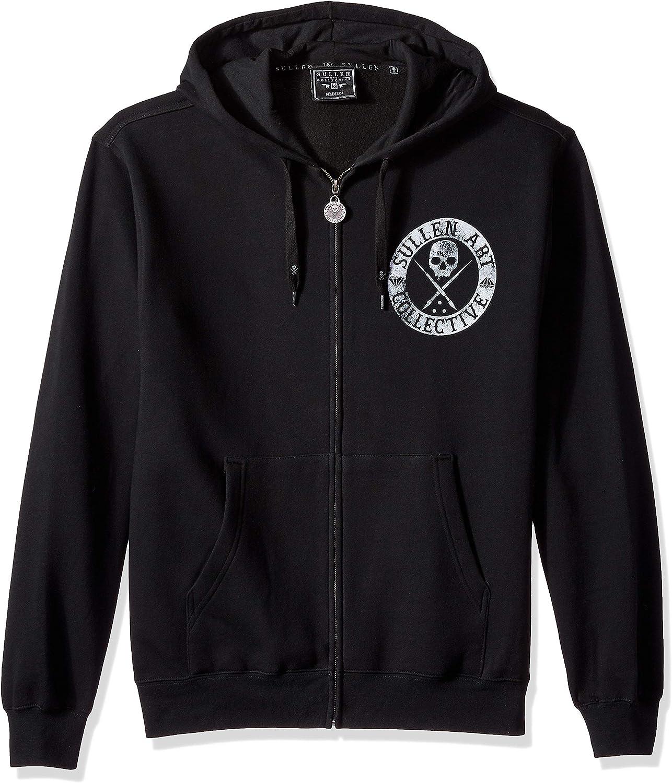Sullen Men's Badge of Honor Zip-Up Long Sleeve Hoodie schwarz