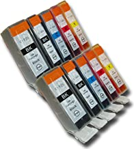 The Ink Squid 10 Chipped Compatible High-Capacity Canon PGI-525 & CLI-526 Ink Cartridges for Canon Pixma iP4850